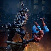 [예약상품][SIDESHOW] MARVEL 마블 스파이더맨 vs 베놈 스태츄 Spider-Man vs Venom Maquette by Sideshow Collectibles [200561]
