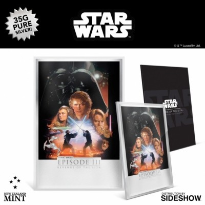[예약상품][New Zealand Mint]스타워즈 에피소드3 시스의 복수 실버 호일 액자 STARWARS Revenge of the Sith Silver Foil Silver Collectible